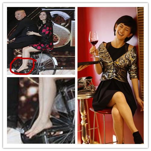 台湾女神林志玲的玉足也算是给力了