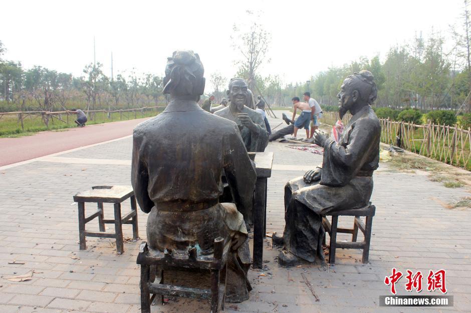 郑州生态廊道雕塑盗损严重