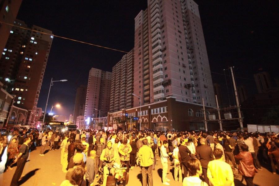 9月9高中,南街皇姑区淮河沈阳寿泉社区前的淮河街上,一停电的小区黄花店日晚天津市图片
