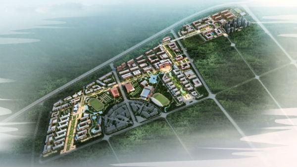 天津科技大学滨海校区规划图.-天津科技大学将于2017年整体搬入滨