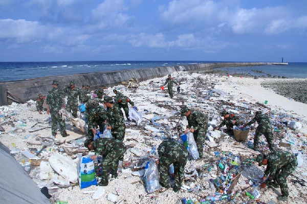 海南三沙多部门联合启动环保志愿行动
