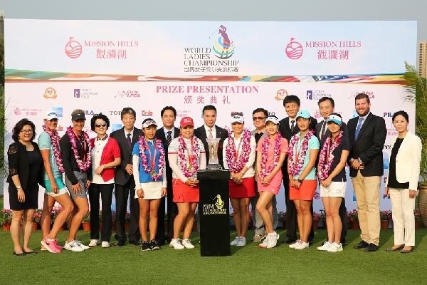 2015世界女子高尔夫锦标赛:林希妤/鲁婉遥率夺团体赛第三 13岁叶雷夺
