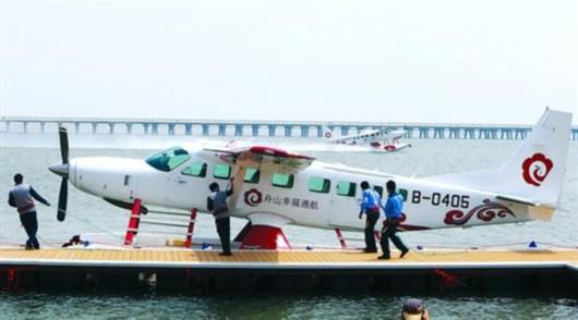 """这两架水上飞机将在""""金三角""""——金山-嵊泗-舟山间"""