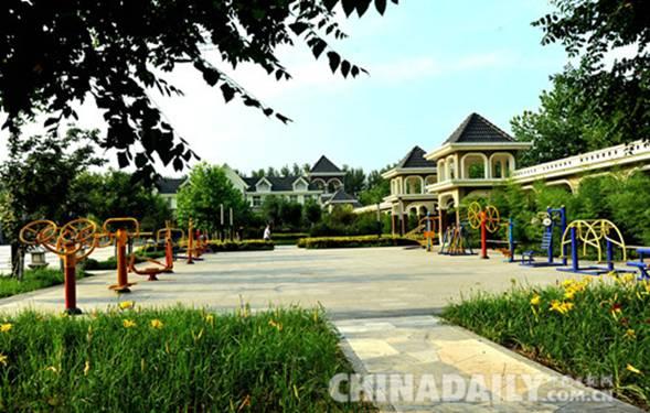 固安县林城村公园一角图片