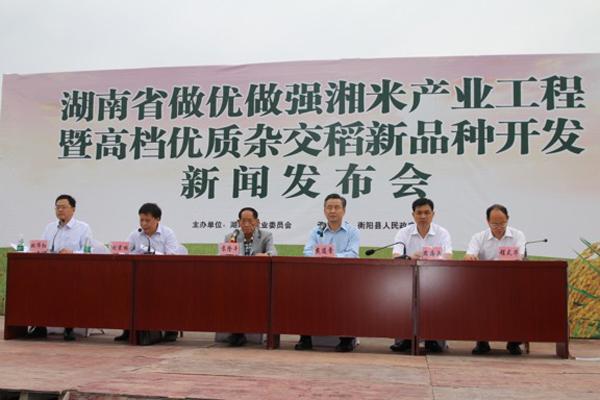 湖南推出五个高档优质杂交稻新品种