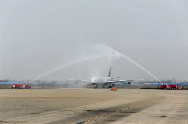 青岛机场开通青岛-法兰克福直航航线
