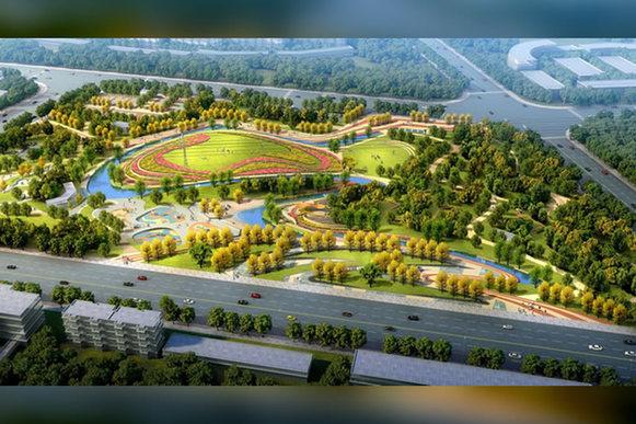 乌苏体育公园鸟瞰图