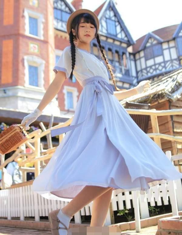 二次元美少女徐娇福利新照 汉服这么穿真的是美如画!