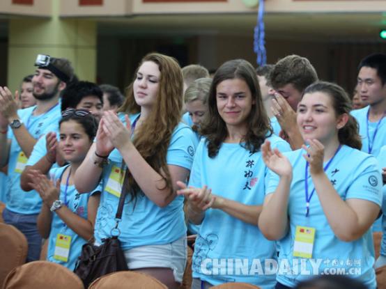 2015汉语桥-美国高中生夏令营(登封)在河南开高中嫩男生图片