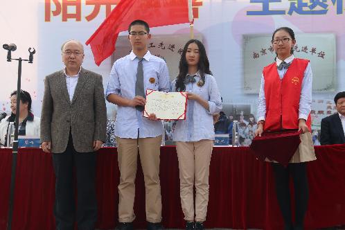 南京原国语黉舍仙林分校慈悲义工团队建立六周年